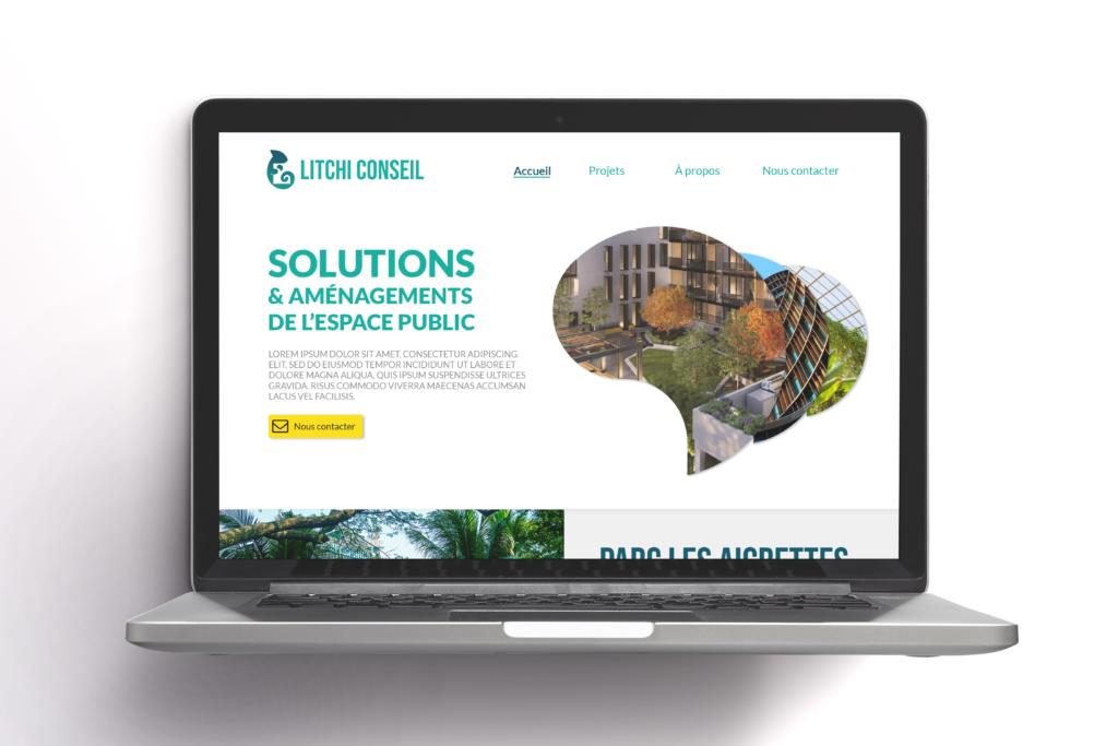 Litchi Conseil Mockup design web