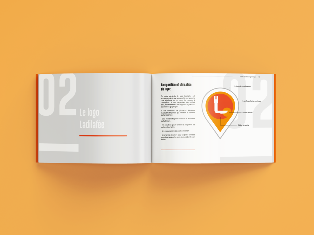 design éditorial document corporate